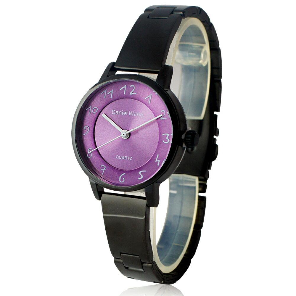 Daniel Wang 3139-IP 典雅小巧錶帶黑框手寫數字質感手錶 1