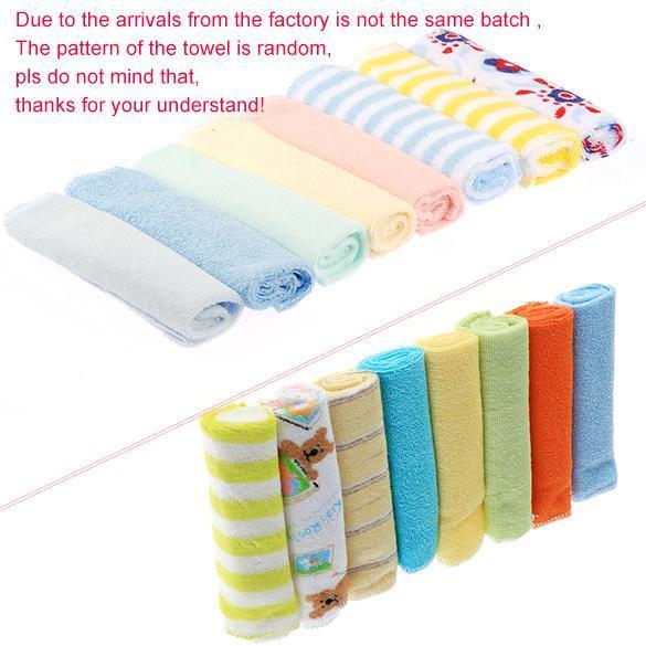 8PCS Baby Wash Handkerchief Multicolor Feeding Wipe Cloth Towel 1