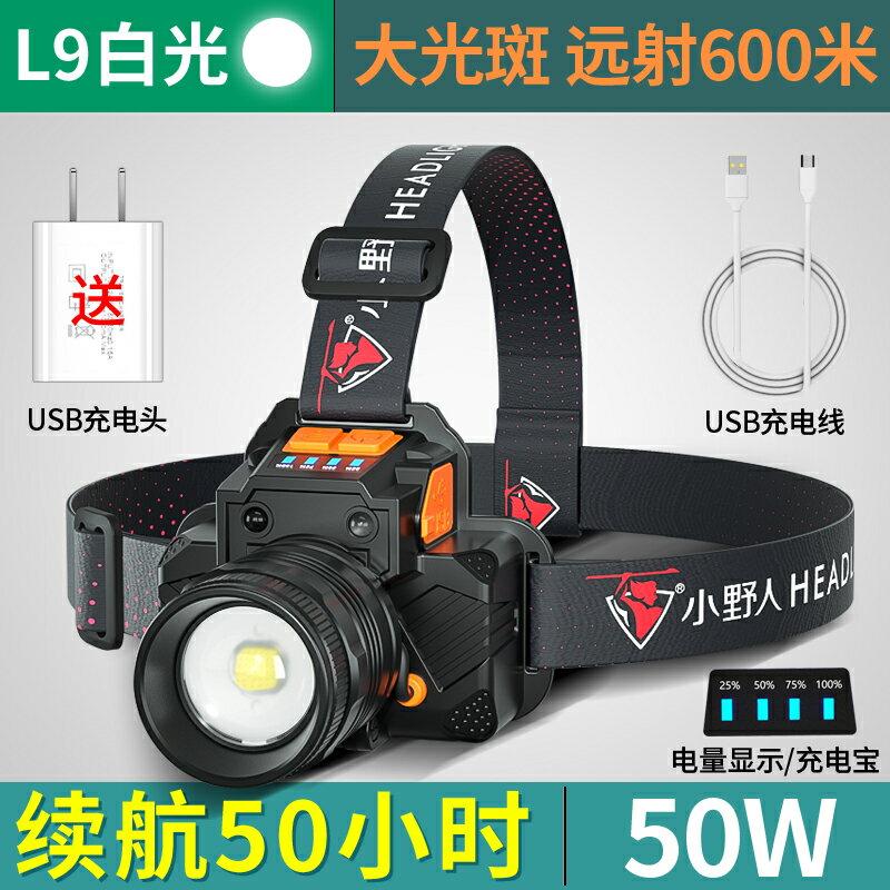 LED頭燈 LED頭燈超亮強光遠射頭戴式可充電手電筒夜釣魚感應變焦疝氣礦燈 【CM393】