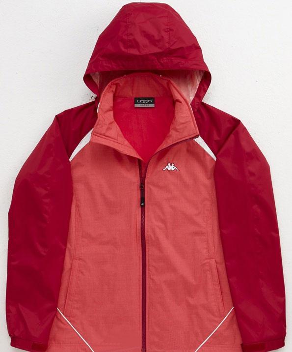 出清 Kappa 雙層風衣外套 可拆帽 粉/莓紅 FC56-F132-1 [陽光樂活=]