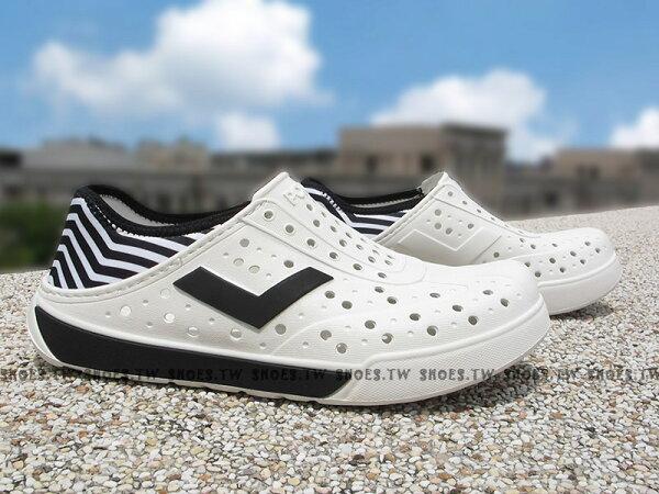 《限時特價79折》Shoestw【72U1SA64OW】PONY 洞洞鞋 水鞋 可踩跟 新款 懶人拖 白黑斑馬 男女都有
