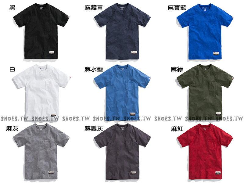 ★現貨+預購★Shoestw【AO250】Champion 服飾 AO250 口袋短T 短袖T恤 胸前有口袋 美規 高磅數 9種顏色 男女都可穿 3