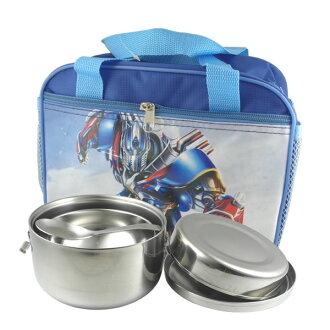 牛頭牌小牛隔熱便當盒14cm+兒童碗+兒童匙+便當袋國小餐具四件組-大廚師百貨