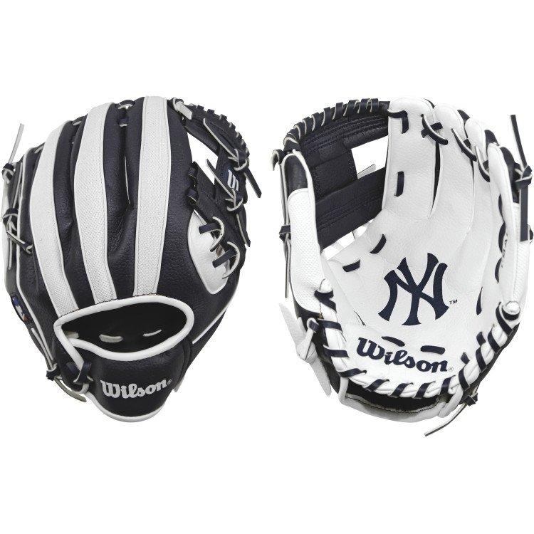 [陽光樂活=]Wilson 兒童棒球手套 A200  10'' 紐約洋基 WTA02RB16NYY 黑白 工字 右投(左手戴)