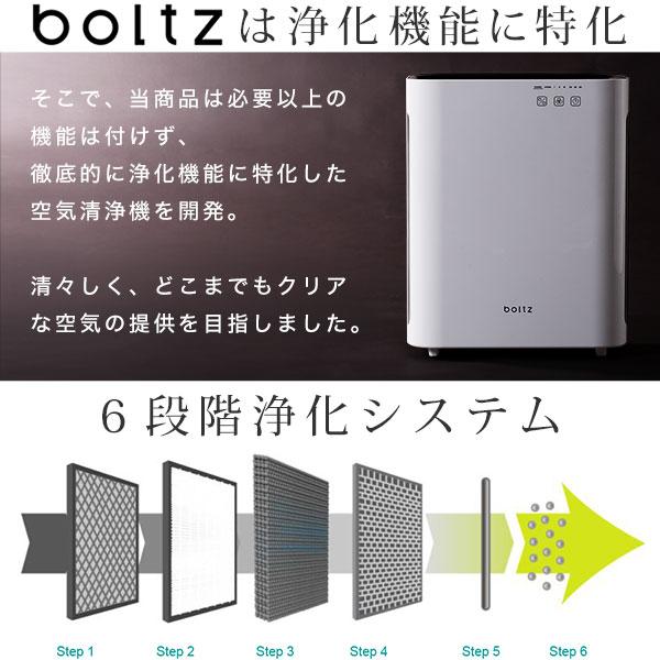 日本boltz / 時尚空氣清淨機 PM2.5 HEPA 約5坪  / a221 / e199-g1007-1000。1色。(10990)日本必買代購 / 日本樂天。件件免運 6