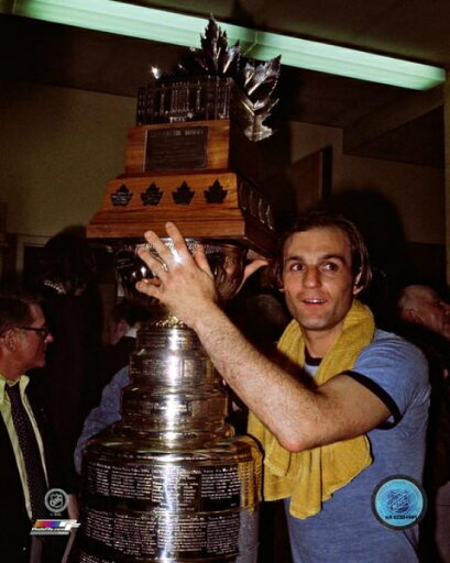 Guy Lafleur with the 1976 Stanley Cup & Conn Smythe Trophies Photo Print (20 x 24) 80e2a3c5b5a08d31f26e1c892c364aab
