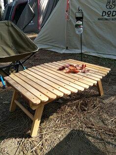 居家露營戶外野餐優質水曲柳實木摺疊木桌摺疊小桌附收納袋