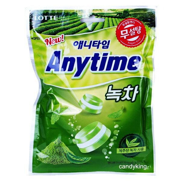 韓國 LOTTE樂天 Anytime三層薄荷涼糖 綠茶 口味