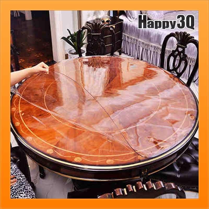 訂製透明桌墊防水透明塑膠桌墊PVC膠墊圓形桌墊方形桌墊免洗磨砂軟質膠墊【AAA3212】