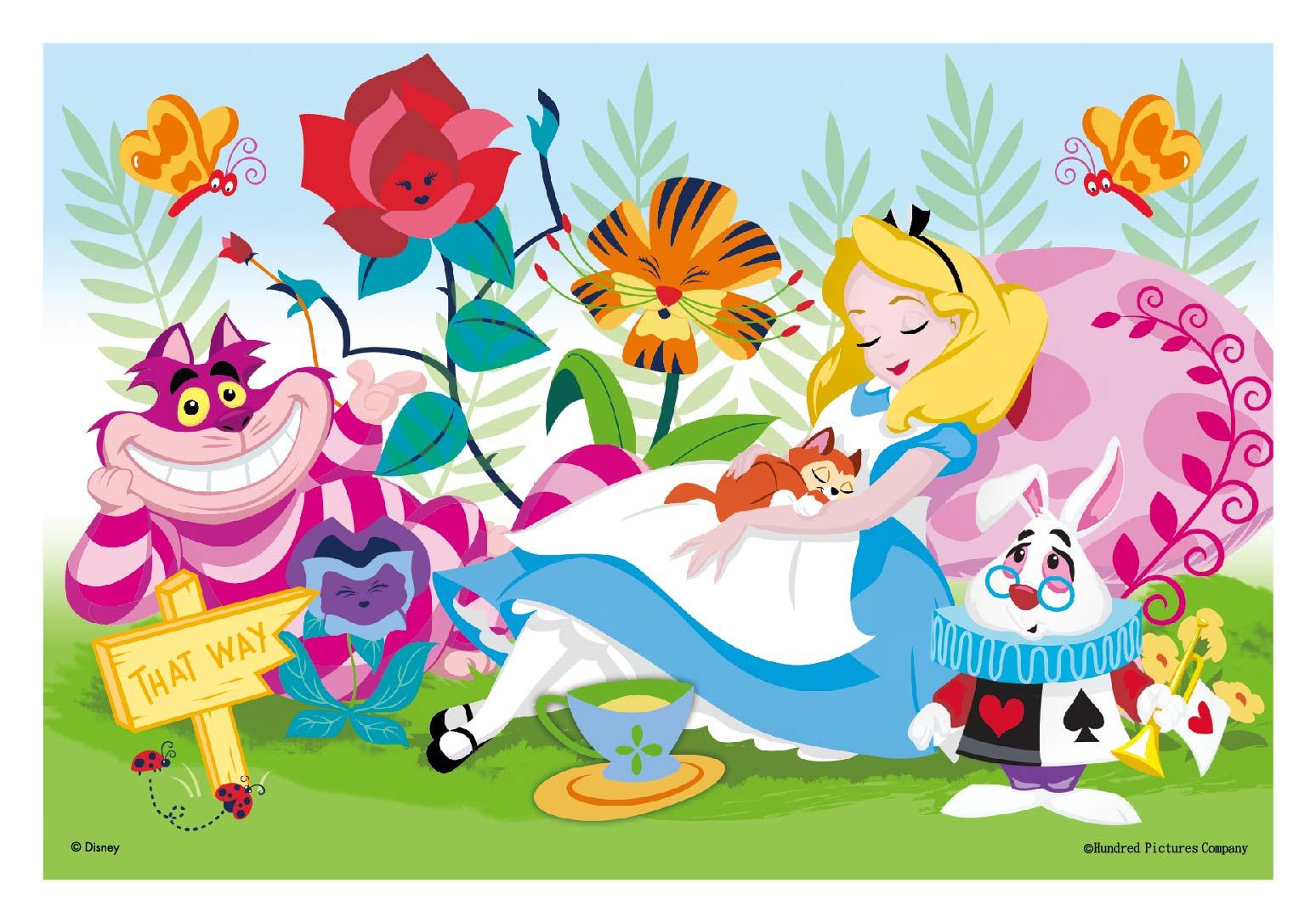 Alice In Wonderland卡片&雙面拼圖30片