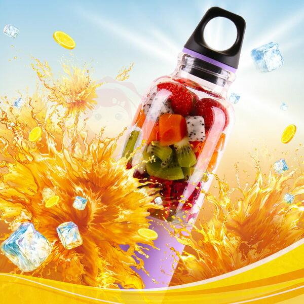 馬卡龍電動USB充電蔬果榨汁機杯500ml (1入) 5款可選【庫奇小舖】(現貨+預購)