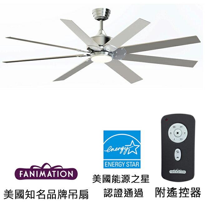 [top fan] Fanimation Levon DC 63英吋能源之星認證吊扇(FP7916BN)刷鎳色