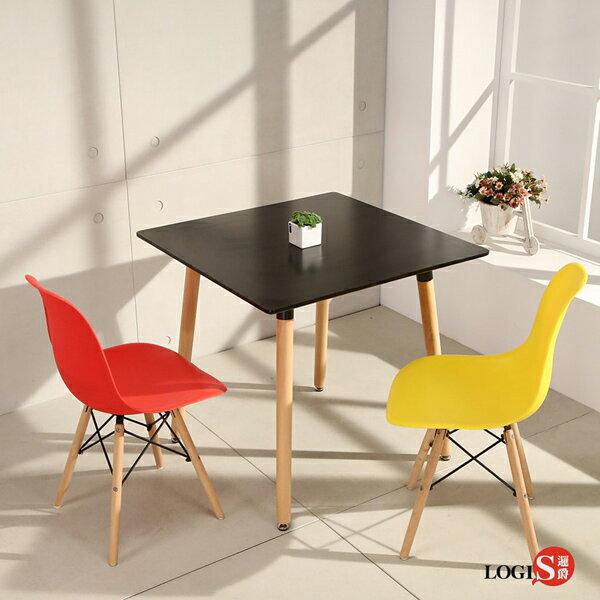 LOGIS邏爵-自然簡約北歐寬80cm方形桌方桌工作桌書桌休閒桌T8080B