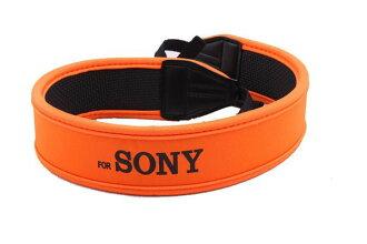 For Sony 索尼 數位相機專用減壓背帶,橘色版【防滑設計,寬版加厚設計】單眼相機肩帶-20605