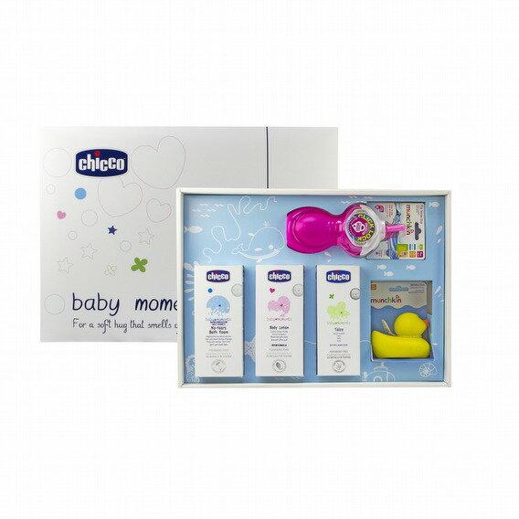 【淘氣寶寶】【Chicco】寶貝嬰兒歡樂沐浴全效禮盒(附禮盒紙袋)