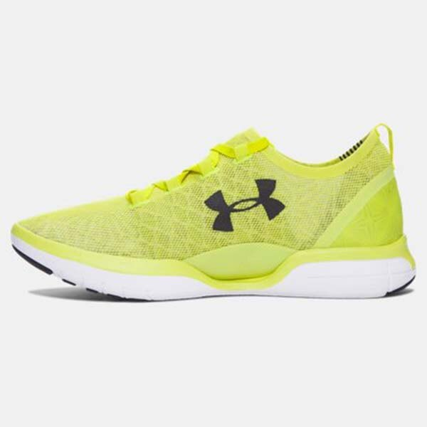 《下殺5折》Shoestw【1285666-772】UNDER ARMOUR Charged CoolSwitch 慢跑鞋 透氣網布 螢光黃 男生 1