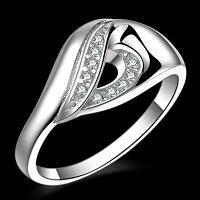 母親節禮物推薦飾品:項鍊、耳環、戒指、手環及手鍊到☆【純銀戒指 】 925純銀鑲鑽銀飾-韓系唯美大方高貴母親節生日情人節禮物女配件73aq42【獨家進口】【米蘭精品】
