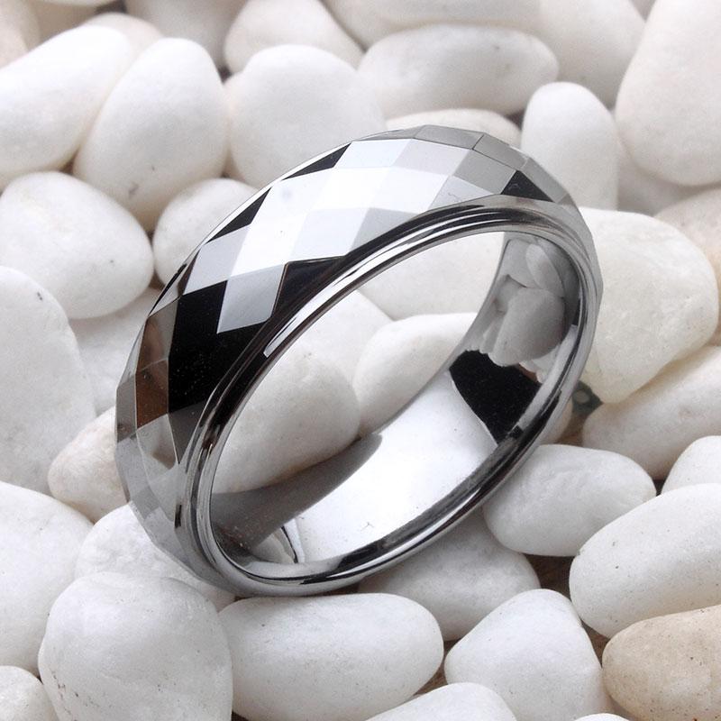 閃亮鎢金男士戒指 時尚個性潮男不褪色食指戒指環 品牌撤柜清倉