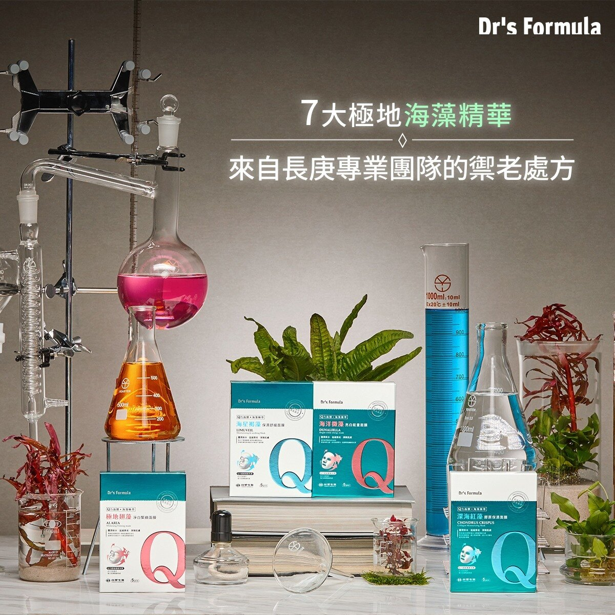 3D面膜 4款任選Dr's Formula 海藻系列 保濕/舒緩/亮白/緊緻 面膜(5片裝)