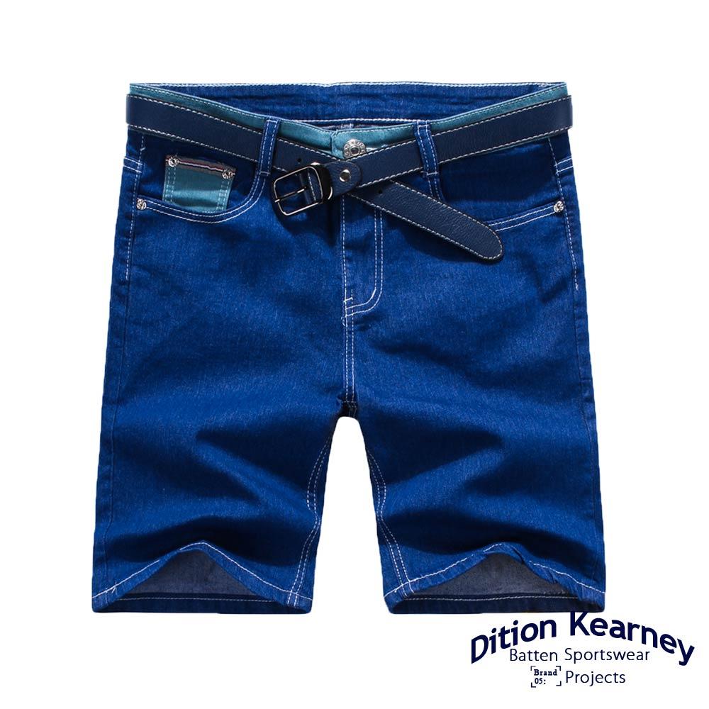 DITION SHOP 紅藍白布邊JEANS牛仔短褲 高磅DENIM 0