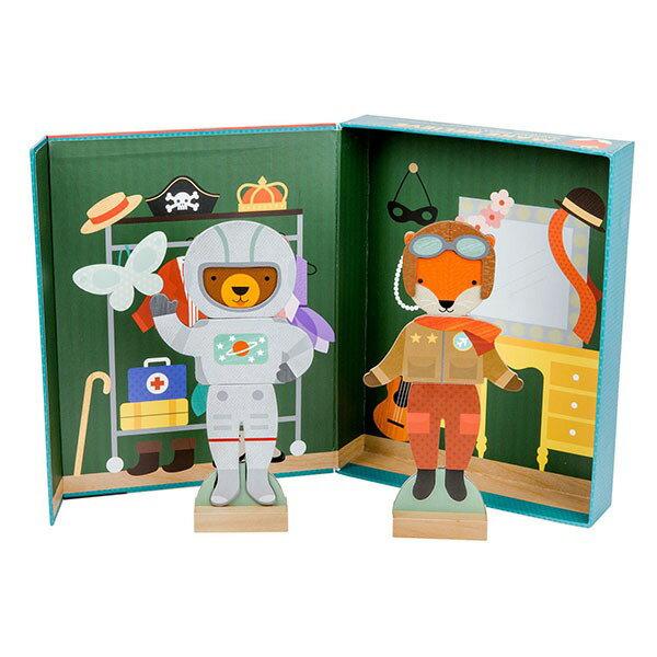 美國 Petit Collage 磁鐵換裝秀 - 奇幻舞台 Unicorn