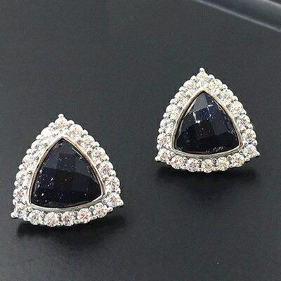 ~925純銀耳環鑲鑽耳飾~高貴華麗復古 情人節生日 女飾品2色73gq21~ ~~米蘭 ~