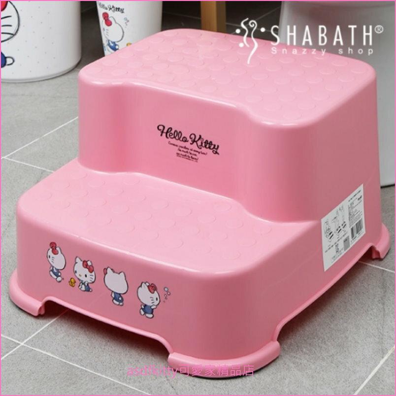 asdfkitty可愛家☆KITTY粉紅色小鴨子階梯椅/防滑小椅子/墊高椅/墊腳椅-客廳.廁所都好用-韓國製