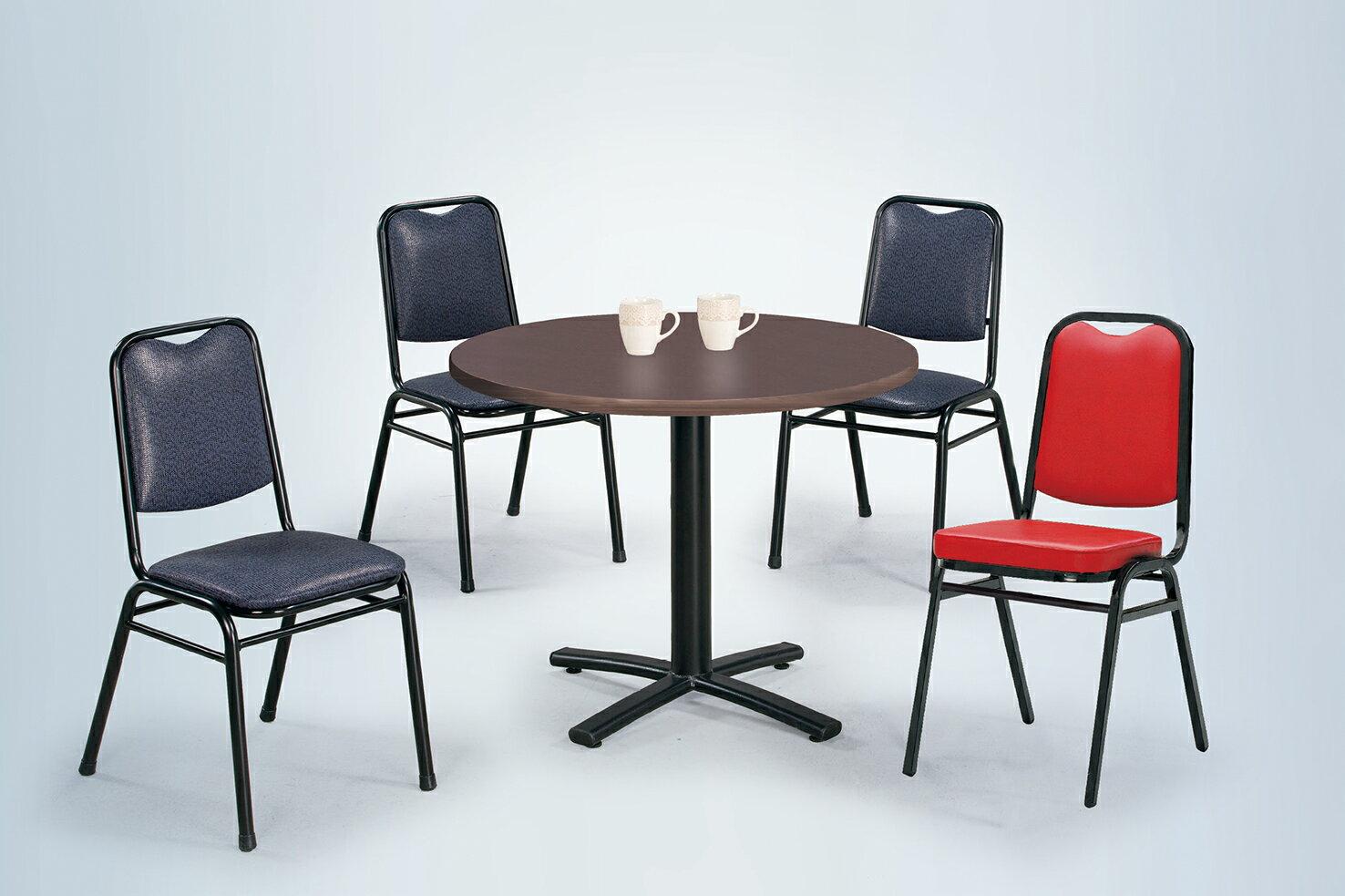 ~ IS空間美學~2.5尺圓鐵刀木十字餐桌 紳士椅^(1桌4椅^)