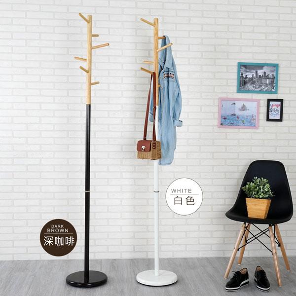 優世代居家生活館:衣帽架衣架掛衣架吊衣架《YoStyle》簡約時尚衣帽架(兩色可選)
