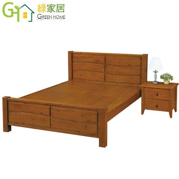 【綠家居】謝爾文時尚6尺實木雙人加大床台(不含床頭櫃)