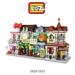 東洋商行【現貨+預購】LOZ 迷你鑽石小積木 街景系列 彩妝店 小熊商店 樂高式 益智玩具 組合玩具 原廠正版
