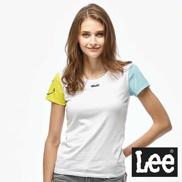 LeeLEExSMILY聯名拼接短袖圓領TEE-女款