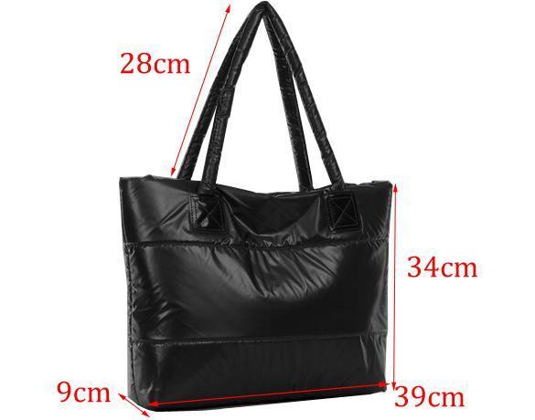Waterproof Ladies Winter Cotton Totes Shoulder Handbag 3