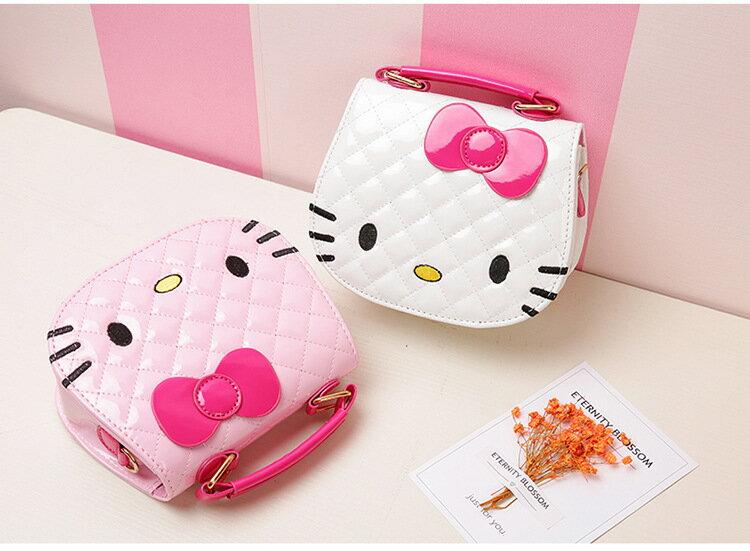 【Alice購物網】小朋友 包包 可愛 KITTY 大頭造型 斜背包 時尚 公主 手提包