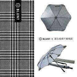 ├登山樂┤紐西蘭 BLUNT 黑白經典千鳥格紋 經典直傘 (限量款) # 5-BLT-C04-HS