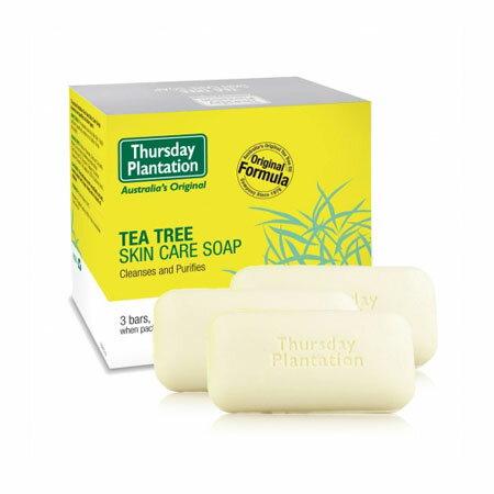 澳洲 Thursday Plantation 星期四農莊 茶樹純淨皂 (3入) 125gx3 茶樹肥皂 洗臉皂 身體皂 肥皂 香皂 清潔 洗臉 沐浴【N601533】