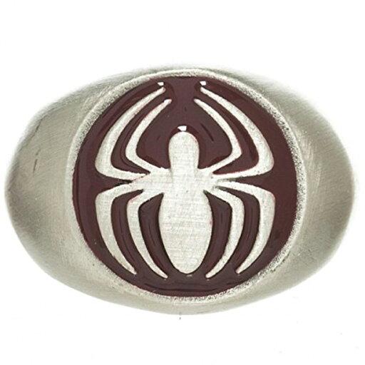 Marvel Spider-Man Women's Brushed Nickel Ring: Medium 8 41362aee1ef2bebb466852e5ca4c88c3