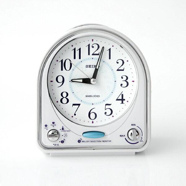 SEIKO精工藍色音符扇形鬧鐘【NV50】柒彩年代