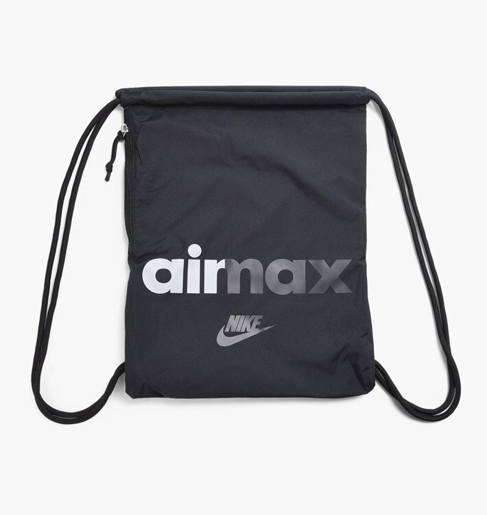 NIKE Heritage Gymsack 2 GFX 束口袋 收納包 鞋袋 後背包 黑 【運動世界】 BA5431-015