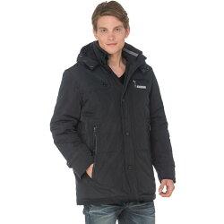 【SAMLIX山力士】JIS90%羽絨防潑水保暖外套#68611(灰色.黑色)