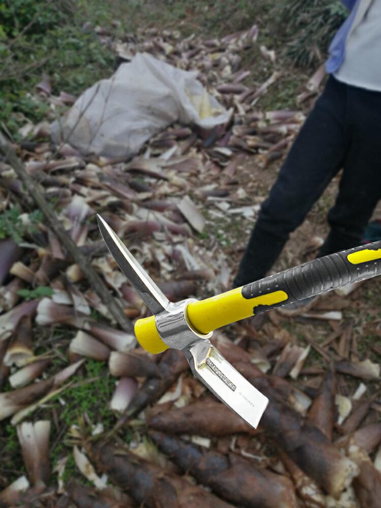 挖筍專用鋤頭筍鋼工具鏟兩用不銹鋼鍛打進口小洋鎬大號多功能戶外