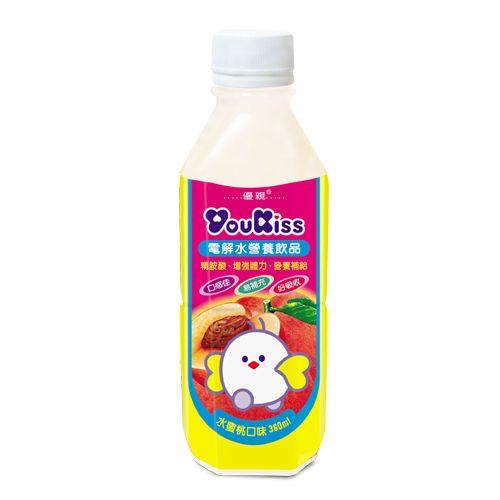 【YouKiss 優親】電解水營養飲品360ml(水蜜桃/蘋果/草莓)