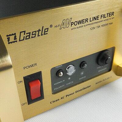 ※ 欣洋電子 ※ Castle 蓋世特 專業音響電腦電源淨化濾波轉接器 / 電源延長線 3孔(3P)12插座 (PLF-200) 1