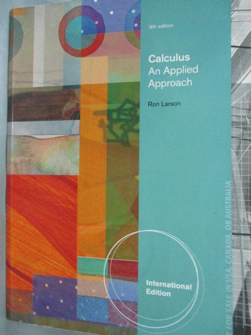 ~書寶 書T8/大學商學_ZKO~Calculus: An Applied Approach9  e_Larson