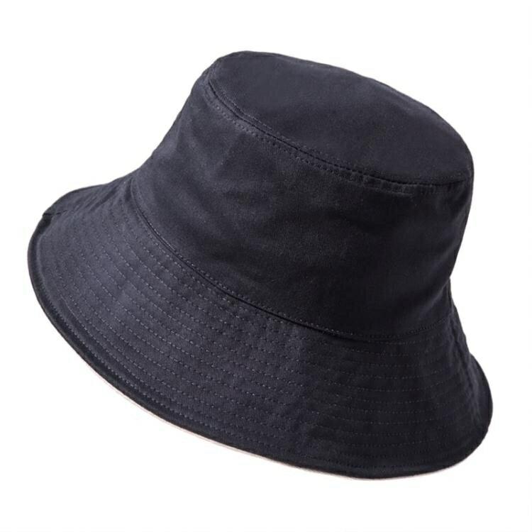 遮陽帽 UV漁夫帽女秋冬季黑色韓版日系百搭防紫外線遮陽防曬太陽帽潮