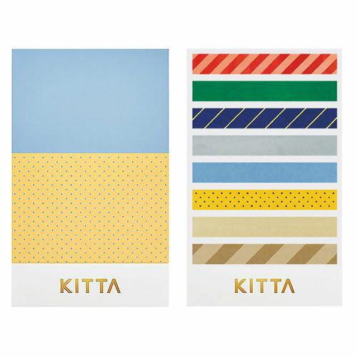 【日本KITTA】隨身攜帶和紙膠帶slimKITS003復古色系本