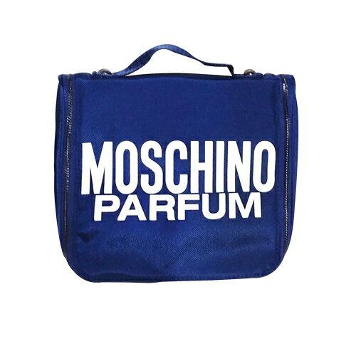 MOSCHINO 紳藍旅行收納包/盥洗包 ☆真愛香水★