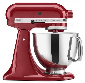 ㊣胡蜂正品㊣ 美國 KitchenAid KSM150PSER Artisan Series 5-Quart Mixer 紅色 福利品 攪拌機