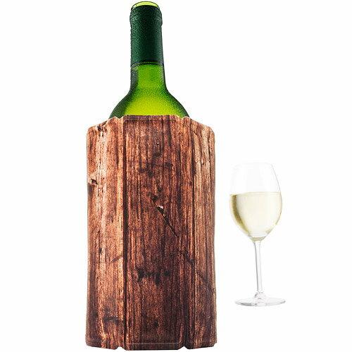 《VACUVIN》Wine軟性保冷冰桶(木紋1L)