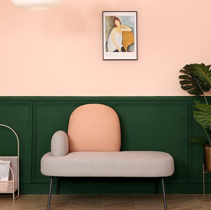 沙髮 北歐小戶型現代簡約布藝沙髮雙人公寓時尚酒店個性創意彩色ins風   麻吉好貨